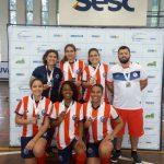 Meninas do futsal sub 18 do Santa ficam em 3º lugar no 35º Intercolegial O Globo. Parabéns!