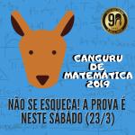 Prova do Canguru de Matemática 2019 será neste sábado (23/3)!