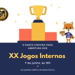É nesta sexta (07/06)! Venha prestigiar nossas crianças na abertura dos XX Jogos Internos!