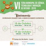 Venha visitar o Santa na VI Feira Municipal de Ciência, Tecnologia e Inovação, dia 19, no Campo de São Bento, Niterói!