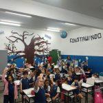 Muita integração e diversão no encontro dos alunos do Pré 2 da Educação Infantil e do 1º ano do Ensi...