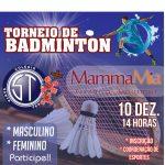 Torneio de Badminton no Santa em dezembro. Participe! Inscrições na Coordenação de Esportes!
