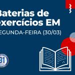 ATIVIDADES EXTRAS DO EM (SEGUNDA-FEIRA-30/03)