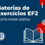 ATIVIDADES EXTRAS DO ENSINO FUNDAMENTAL 2 (SEXTA-FEIRA- 03/04)